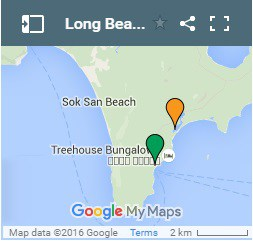 Long Beach on Koh Rong Island in Cambodia Map 3