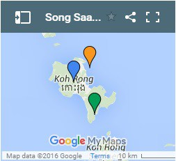 Song Saa Private Island on Koh Rong Island in Cambodia Map