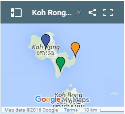 Koh Rong Resort ב Koh Rong איילנד קמבודיה מפה