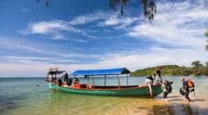 Khmer Fishing Boat at Koh Rong
