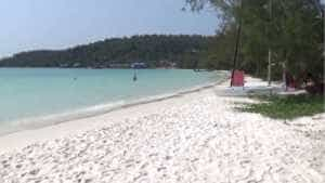 White Beach on Koh Rong Island in Cambodia