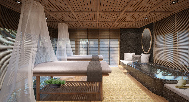 Sala de Spa no The Royal Sands