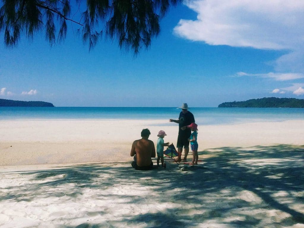 Family-on-Saracen-Bay-Koh-Rong-Samloem