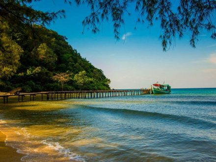 Pier on Lazy Beach Koh Rong Samloem