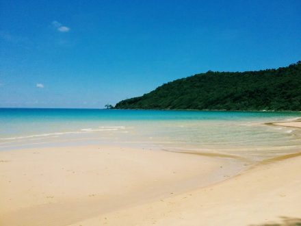 Lazy Beach on Koh Rong Samloem Island in Cambodia