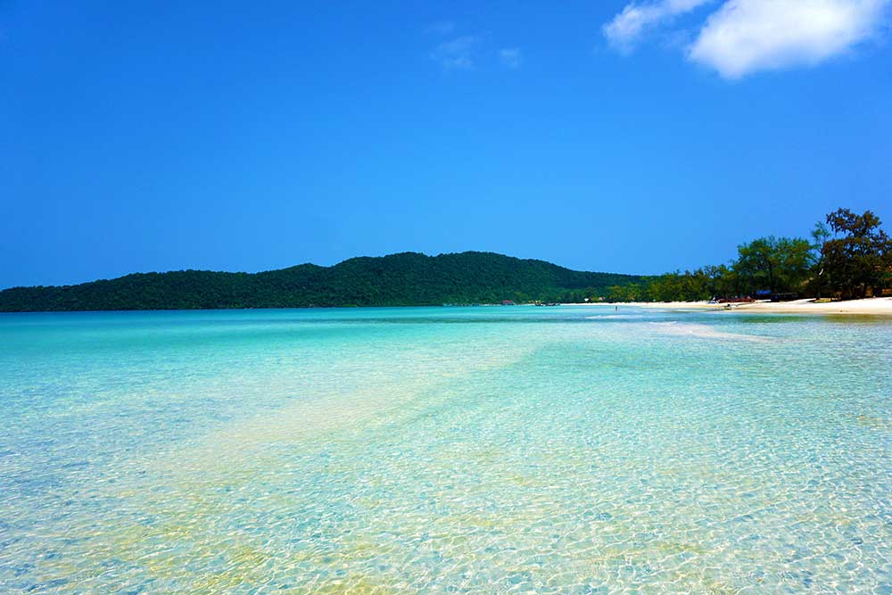 Saracen Bay on Koh Rong Samloem Island in Cambodia