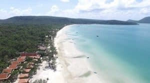 Aerial View of Sol Beach Resort on Koh Rong Samloem