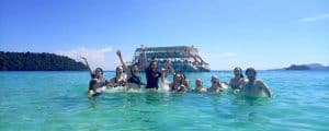 Happy Boat Tour of Koh Rong Island in Cambodia