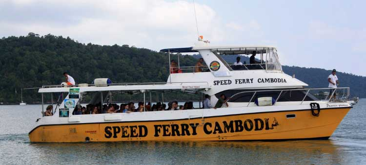 Speed ​​Ferry Kambodža į Koh Rongą