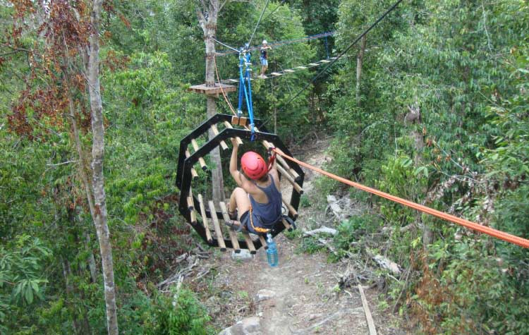 High Point Zipline auf Koh Rong