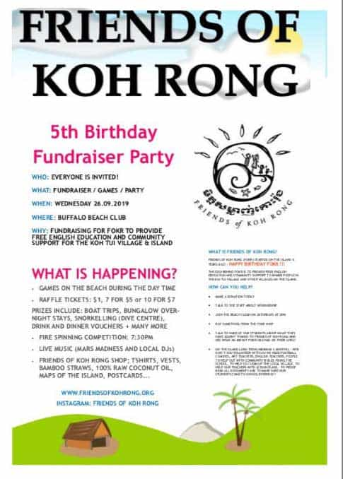 Friends of Koh Rong Fundraiser